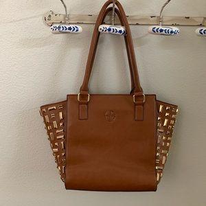 Gianni Bini large studded leather handbag